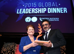 United Nations Foundation and UNA-USA Global Leadership Award in New York, Tuesday, Nov. 3, 2015. (Photo/Stuart Ramson for UN Foundation)
