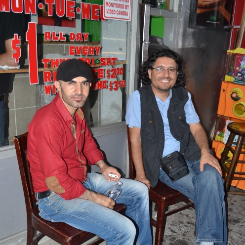 Interview with Hakki Akdeniz at his first pizza store located