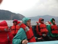 Tekne turumuzu sonlandırırken alabora olma tehlikesi yaşayınca teknede oluşan panik havası kameramıza böyle yansıyor.