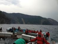Teknemiz uzun süreli uğraşlardan sonra güvenli bir şekilde tahliye edilirken ortaya çıkan görüntüler.